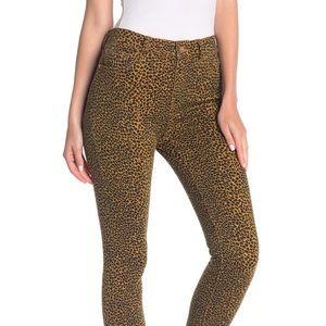 Current/Elliott High Waist Stiletto Leopard Jeans